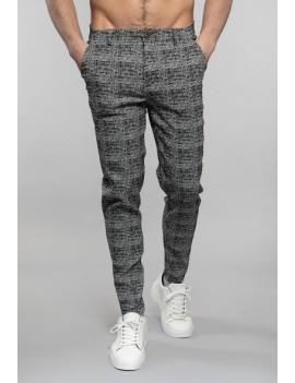 Pantalon carreaux gris Homme