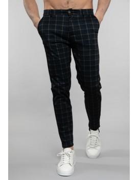 Pantalon carreaux bleu - homme